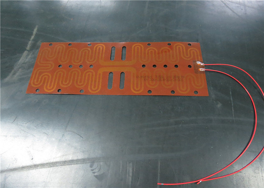 Battery Powered Polyimide Film Heater , Kapton Heating Element UL Approved